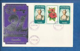 Lettre De Tuvalu De 1962 - FDC - Princesse De Galles - Fleur - Royalties, Royals