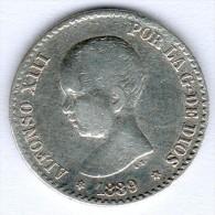Spanien,50 Centimos 1889, Ss, K.M.#690 - [ 1] …-1931 : Royaume