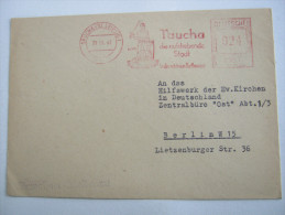 1947 , TAUCHA          ,  Firmen Freistempel Auf Beleg - Sowjetische Zone (SBZ)