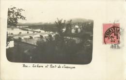 64 PAU - BELLE CARTE PHOTO - LE GAVE ET LE PONT DE JURANCON - Pau
