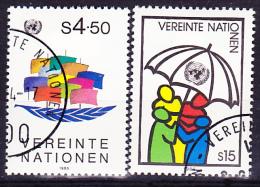 UN Wien Vienna Vienne - Dauerserie/time Series/Les Séries Chronologiques 1985 - Gest. Used Obl. - Usati