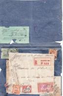 SURPRENANTE LETTRE INDOCHINE. 1° HANOI 1926 TAXEE. 2° RECOMMANDE HANOI 1930. GRIFFE ECRIRE DOUANE DE LYON TRANSMI / 5978 - Brieven En Documenten