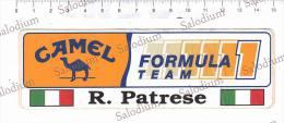 (*) FORMULA 1 - R. Patrese - Camel - Sport Formula Uno Auto Car - F1 Grand Prix Sport - Adesivo Sticker - Grand Prix / F1
