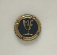 Plaque De Muselet 039 Ou Capsule De Champagne Coupe Noir Et Or - Unclassified