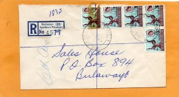 Bulawayo 36 Southern Rhodesia 1965 Registered Cover Mailed - Rhodesia (1964-1980)