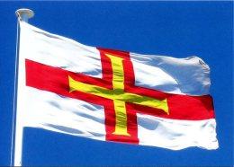 Postcard. GUERNSEY - Flag Of Guernsey / Drapeau De Guernesey, Bandera De Guernsey, Flagge Guernseys - Guernsey