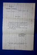 1871 BOLOGNA Società Della Gioventù Cattolica Circolo San Petronio - SOLENNE CHIUSURA DELLA NOVENA AD ONORE DELLA BEATA - Manoscritti