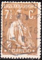 PORTUGAL - 1912, Ceres, 7 1/2 C.  Pap. Pontinhado,  D. 15x14    (o)  Afinsa  Nº 213 - Usado