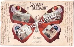 Butterflykarte, Souvenir De Delemont 1904  (z1727) - JU Jura