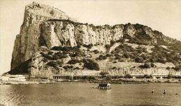 GIBRALTAR RARISSIME TOP CARTE N124 THE ROCK AND GALLERIES FROM THE INUNDATION PAS ÉMIS NON CIRCULEE GECKO - Gibraltar