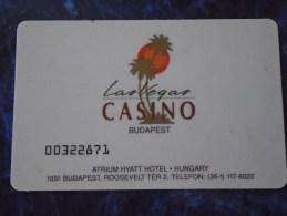 HUNGARY - LAS VEGAS CASINO BUDAPEST - Casino Cards