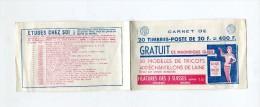 !!! COUVERTURE DE CARNET PUBLICITAIRE VIDE - Carnets