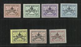VATICANO VATICAN VATIKAN 1939 SEDE VACANTE VACANT SEAT INTERREGNUM SERIE COMPLETA MNH FIRMATO ALTO VALORE SIGNED - Neufs