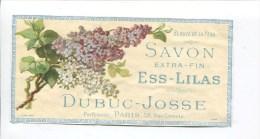 SAVON ESS LILAS DUBUC JOSSE PARFUMEUR PARS RUE GRENETA  VADOT - Labels