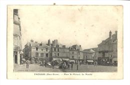 Cp, 79, Thouars, Place St-Médard, Le Marché, Voyagée 1908 - Thouars