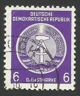 DDR, 6 Pf. 1954, Sc # O2, Mi # 2xX, Used - Service