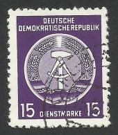 DDR, 15 Pf. 1954, Sc # O6, Mi # 6xX, Used - Service