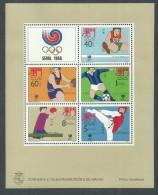 Macao BF N° 9 XX Jeux Olympiques D'été à Séoul,  Le Bloc  Sans Charnière, TB - Blocs-feuillets