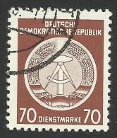 DDR, 70 Pf. 1954, Sc # O16, Mi # 16xX, Used - Service