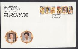 Europa Cept 1996 Guernsey 2v FDC (F2762) - 1996