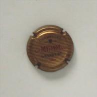 Plaque De Muselet 108 Ou Capsule De Champagne Mumm Grand Cru - Unclassified