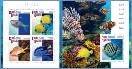 gb14804ab Guinea Bissau 2014 Fish 2 s/s