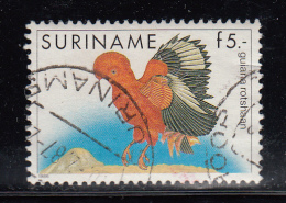 Surinam Used Scott #728 5g Guyana Red Cockerel - Birds - Surinam