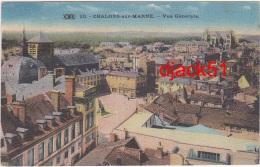 51 - CHALONS-sur-MARNE - Vue Générale - 1924 / 2 Scans - Châlons-sur-Marne