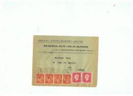 SUR DL   VEREMENTS SUR MESURE & CONFECTION  MORLOT MAGNIN à BOURBONNE LES BAINS 1945 - Marcophilie (Lettres)