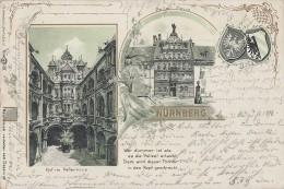 Litho Nürnberg Peller Haus, Hof Im Peller Haus Gelaufen 31.8.98 - Nürnberg