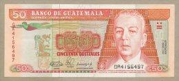 Guatemala - 50 Quetzales  1990  P77b  EF+  !!!!!!!!!!!!!!!  ( Banknotes ) - Guatemala