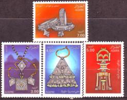 Algérie - Les Bijoux Touareg- Timbre Oblitéré N° YT 1009/1010/1011/1012 - Algerien (1962-...)