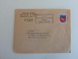 France Marcophilie  :Cachet   : Paris  48 En 1968 - Marcophilie (Lettres)