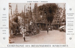 BIRMANIE  Rangoon   Compagnie Des Messageries Maritimes - Cartes Postales