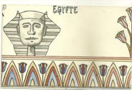 EGYPTE FANTAISIE CARTE PEINTE PHARAON PEINTRE PEINTURE ART - Other