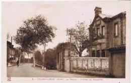Cpa VILLEGAILHENC Mairie Avenur De Mazamet - France