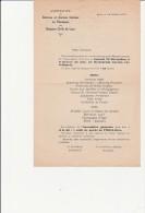 COMPTE RENDU ASSEMBLE E.GENERALE AVEC MENU -ANCIENS INTERNES EN PHARMACIE -HOSPICES CIVILS DE LYON -1931 - Menú