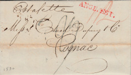 LAC De Janvier 1830  De Londres Pour Cognac - M.p. Rouge : ANGL.EST. - 3 San