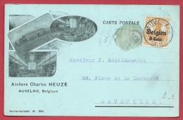 Auvelais - Ateliers Charles Heuze - Carte Publicitaire - 1918 ( Voir Verso ) - Sambreville