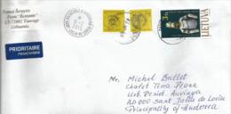 Belle Lettre De Lithuanie Adressée En Andorre, Avec Timbre à Date Arrivée Au Recto Enveloppe - Lithuania