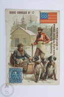 Old Die Cut Trading Card/ Chromo Topic/ Theme - Mail Delivery/ Post Office From North America In 1908 - Chocolate