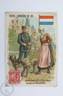 Old Die Cut Trading Card/ Chromo Topic/ Theme - Mail Delivery/ Post Office From Holland In 1903 - Chocolate