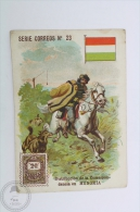 Old Die Cut Trading Card/ Chromo Topic/ Theme - Mail Delivery/ Post Office From Hungary In 1903 - Chocolate