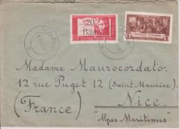 E17 Rumänien Romania Roumanie 1952 Mi. 1295 + 1298 Auf Brief Von Vaslui Nach Nice Nizza Umwertung!! - Covers & Documents