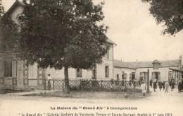 """COURGERENNES - LA MAISON DE """"GRAND AIR"""" -COLONIE SCOLAIRE DE VACANCES - BELLE CARTE TRES ANIMEE - PEU COURANTE - TOP !!! - Francia"""