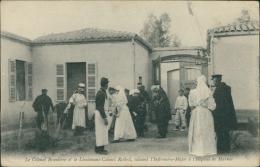 MAROC - Le Colonel Branlière Et Le Lieutenant-Colonel Reibell, Saluant L'Infirmière-Major à L'Hôpital De MARNIA - Autres