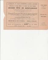 BILLET SOUSCRIPTION FETE DE BIENFAISANCE -1929- COMMUNE DE ST RAMBERT -L'ILE-BARBE-LYON - Tickets - Vouchers