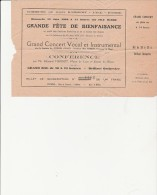 BILLET SOUSCRIPTION FETE DE BIENFAISANCE -1929- COMMUNE DE ST RAMBERT -L'ILE-BARBE-LYON - Toegangskaarten