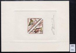 Bird Triangle Epreuve De Luxe Signé Artist Signed Proof Bétemps Mauritania Dreieck - Pelicans