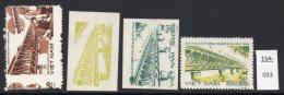 Vietnam 1984 Bridge : 3 Colour Trails / Proofs And The Issued Stamp - Bridges